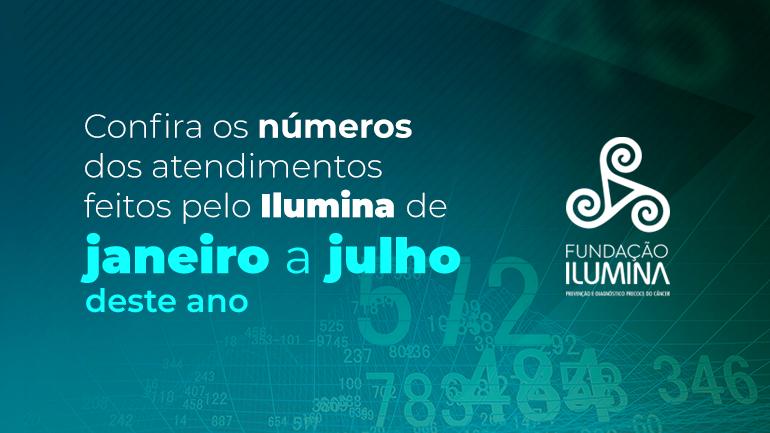 Fundação Ilumina divulga número de atendimentos de Junho e Julho