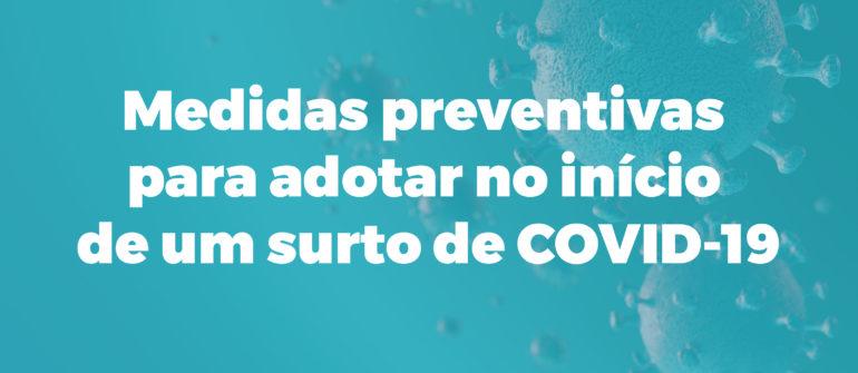 Medidas preventivas para adotar no início de um surto de COVID-19